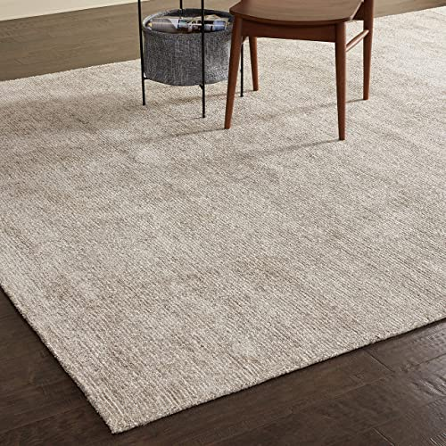 Amazon Brand Rivet Contemporary Striated Jute Rug, 13 x 9 3 , Oatmeal