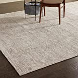 "Amazon Brand – Rivet Contemporary Striated Jute Area Rug, 10' 6"" x 8', Oatmeal"