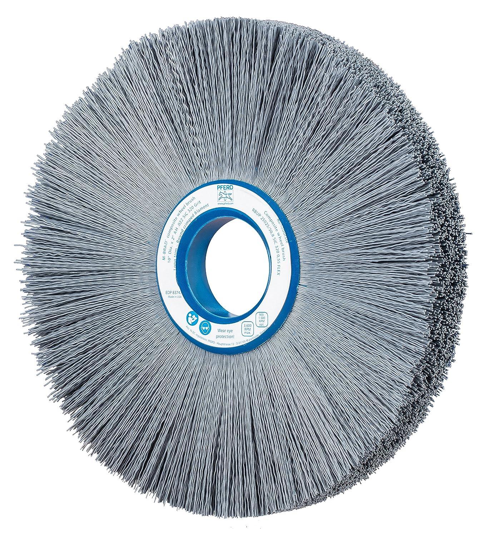 3600 RPM 2 Arbor Hole 320 Grit PFERD 83747 M-Brad Composite Radial Wheel Brush 1 Face Width Silicon Carbide Grain 3-1//4 Trim Length 10 Diameter