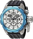 Invicta Men's 'Russian Diver' Quartz Titanium and Silicone Casual Watch, Color:Black (Model: 21681)