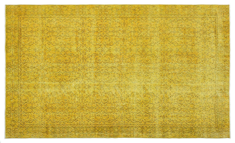 Bespoky ビンテージ 手織 ラグ 黄 ミディアムサイズ 160 X 270 Cm   B07HN8H6BN