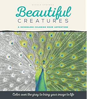 Beautiful Creatures A Grayscale Adult Coloring Book Of Animals