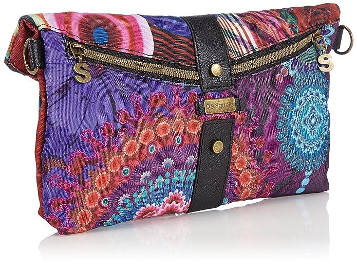 Desigual BOLS_Clutch_ DIVERDELIK - Bolso de Hombro de Material sintético Mujer, Color, Talla 26x24x2 cm (B x H x T): Amazon.es: Zapatos y complementos