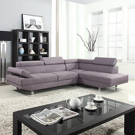 Amazon.com: Divano Roma Furniture Modern Contemporary Linen ...