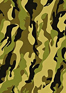1 X A4 Printed Green Army Camouflage Wallpaper Decor Icing Sheet Edible Cake Topper Decorated