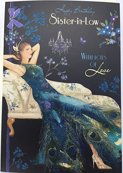 Amazon Luxery Prety Lady Sister In Law Birthday Cards Greeting