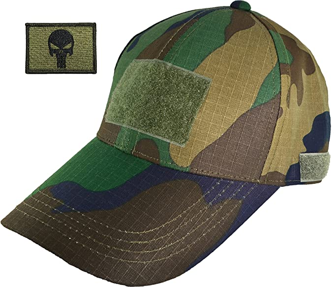Ranger Return Tactical Military Woodland Army Camo Camouflage Baseball  Adjustable Hat Cap with Tactical Morale Operator 4eeedf4b36d