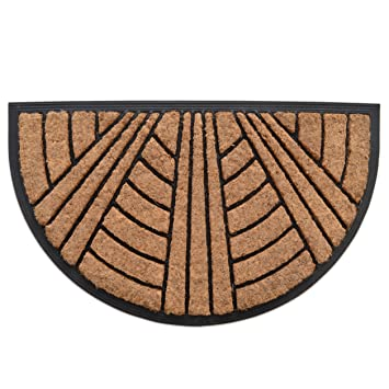 Exceptionnel MILLIARD Decorative Sunburst Coco Fiber SemiSphere Heavy Duty  18u0026quot;x30u0026quot; Doormat