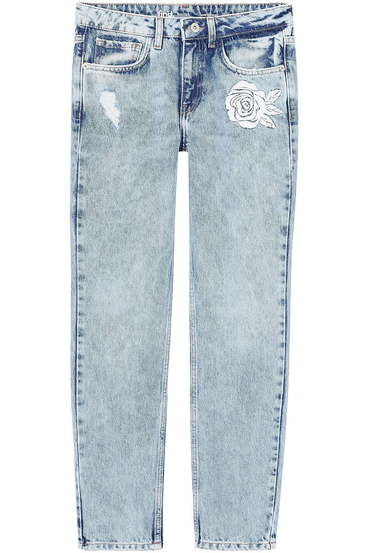 find Jeans Dritti con Ricami Donna