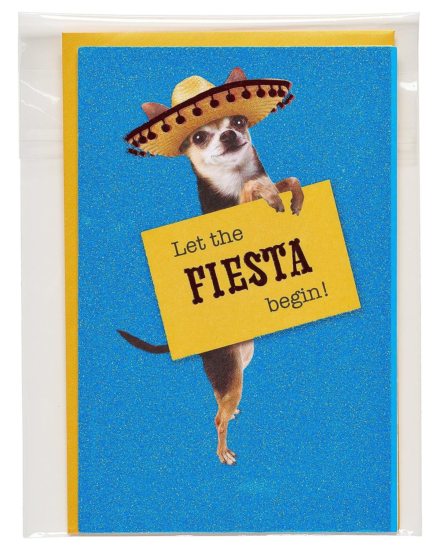 American Greetings Fiesta Birthday Card with Glitter