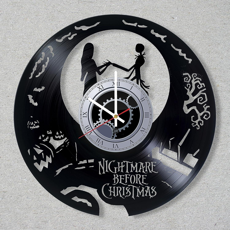Amazon.com: Vinyl Record Wall Clock The Nightmare Before Christmas ...