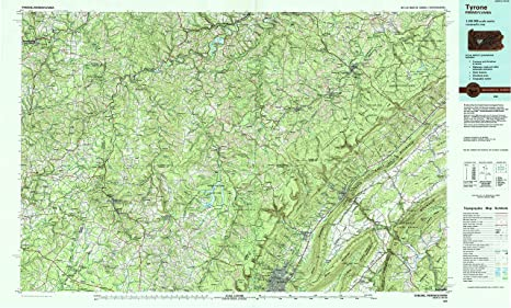 Amazon.com : YellowMaps Tyrone PA topo map, 1:100000 Scale ... on map of new paris pa, map of loganville pa, map of shamokin dam pa, map of upper st clair pa, map of throop pa, map of narberth pa, map of berkshire pa, map of wilburton pa, map of lawrence park pa, map of newry pa, map of point marion pa, map of saint marys pa, map of mahaffey pa, map of schellsburg pa, map of mount union pa, map of armagh pa, map of russellton pa, map of madison pa, map of norwood pa, map of spring mills pa,