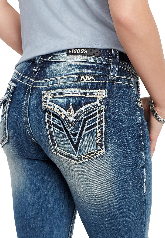 2531f9dfe37 Top1: maurices Women\'s Vigoss Blue Sequin Boot Cut Jean