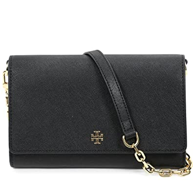 4df581a8fff6 Tory Burch Women s EMERSON Chain Wallet Shoulder Bag Cross Body Bag  (Black)  Handbags  Amazon.com