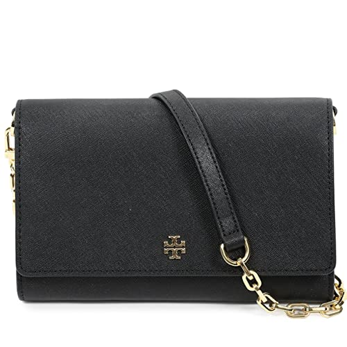 7e3e7bafc9b Tory Burch Women s EMERSON Chain Wallet Shoulder Bag Cross Body Bag  (Black)  Handbags  Amazon.com