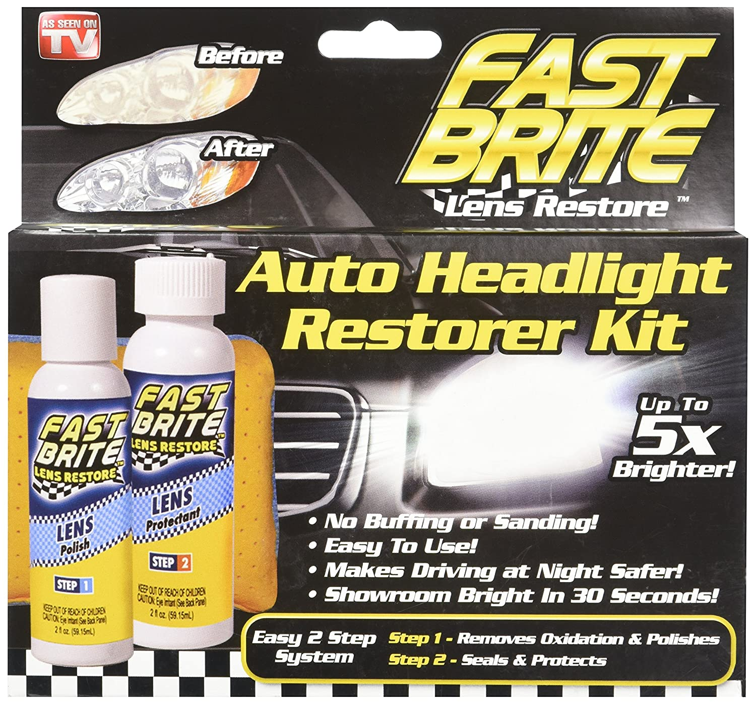 B00745Y2NA Fast Bright Auto Headlight Restore Kit A1TYy2BEBDeL