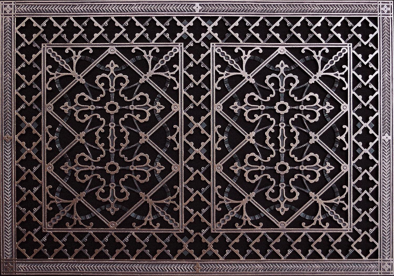 squares antique square rust set decor lachandra grilles decorative pin iron wall grille