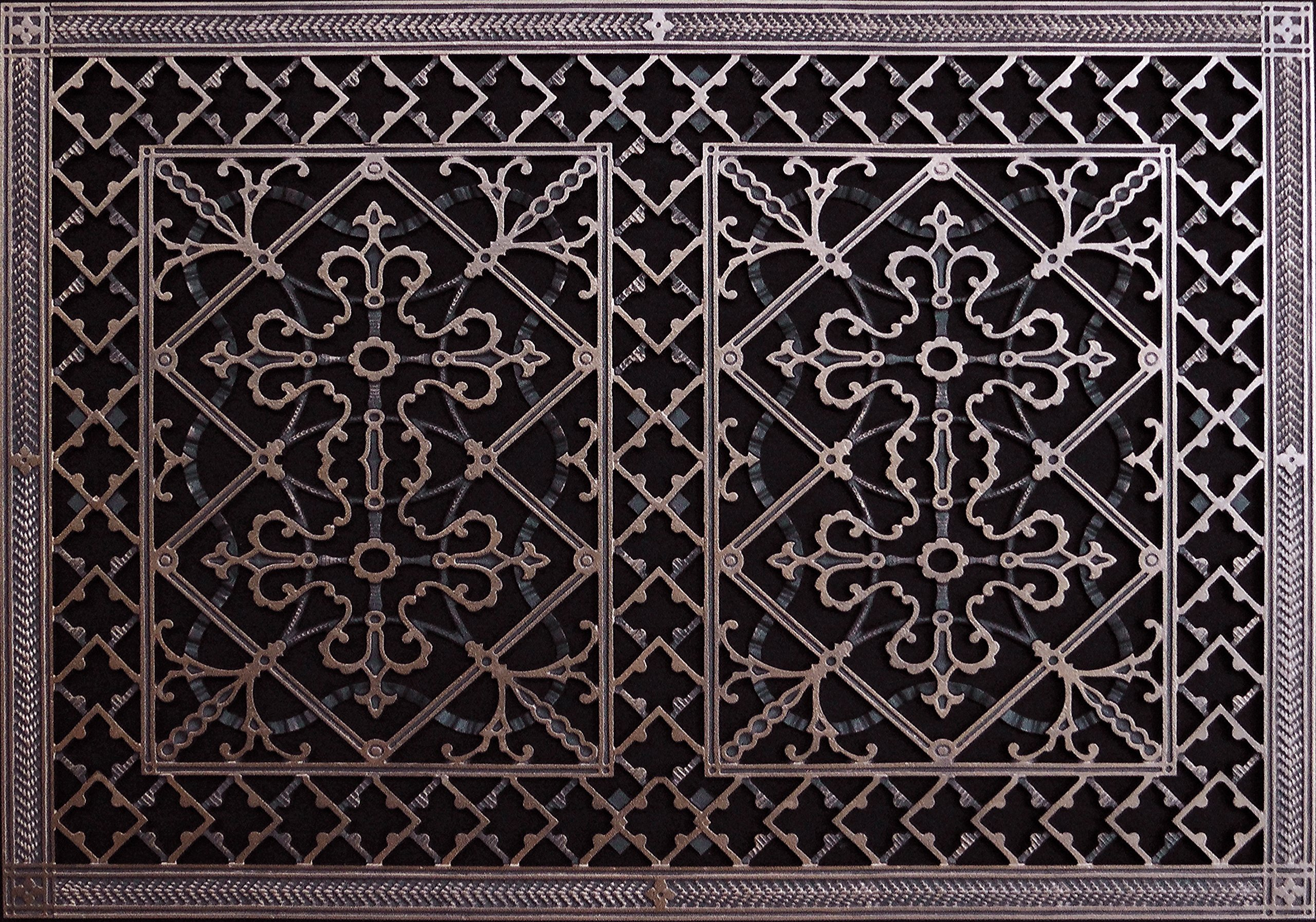 """Decorative Grille, Vent Cover, or Return Register. Made of Urethane Resin to fit over a 20''x30'' duct or opening. Total size of vent is 22""""x32''x3/8'', for wall and ceiling grilles (not for floor use)."""