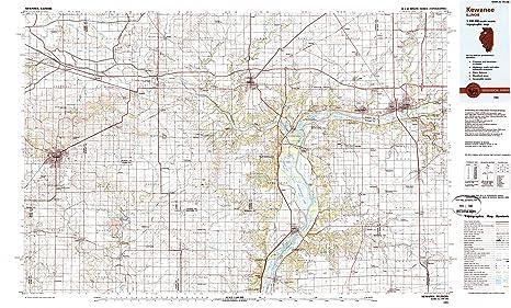Kewanee Illinois Map.Amazon Com Yellowmaps Kewanee Il Topo Map 1 100000 Scale 30 X 60