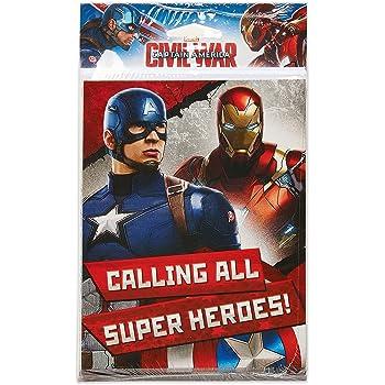 Amazon Com American Greetings Captain America Civil War Invite And