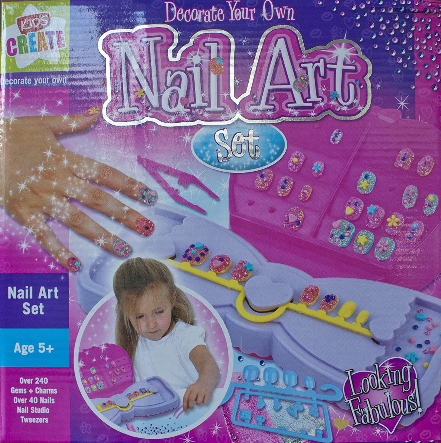 Decorate Your Own - Nail Art Set - Kids Create: Amazon.co.uk: Toys ...