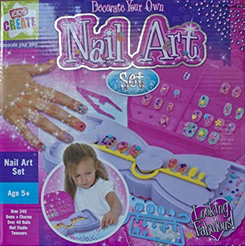 Decorate your own nail art set kids create amazon toys decorate your own nail art set kids create prinsesfo Gallery