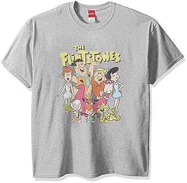 0dddc37d Hanna-Barbera Men's Flintstones Group T-Shirt   Amazon.com