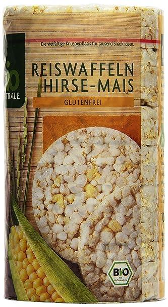biozentrale Arroz gofres de mijo maíz, 1er Pack (1 x 100 g ...