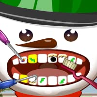 Snowman Dentist Office Salon Dress Up Spa Game - Fun Christmas Holiday Games for Kids, Girls, Boys
