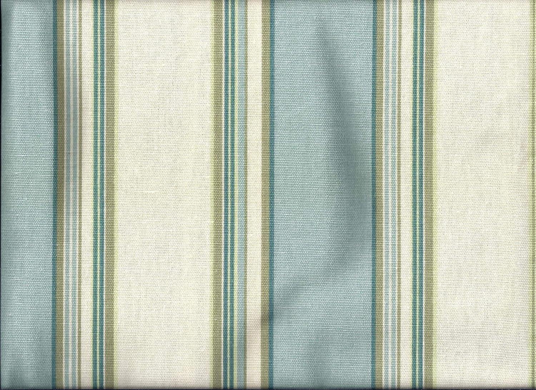 Stripe Aqua Blue Valance