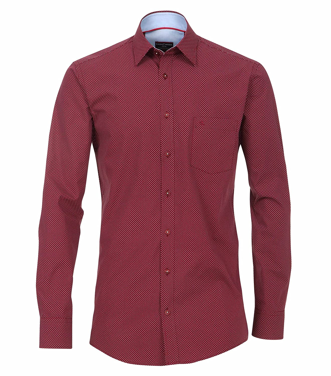 MichaelaX-Fashion-Trade - Camisa Formal - Cuadrados - Clásico - Manga Larga - para Hombre