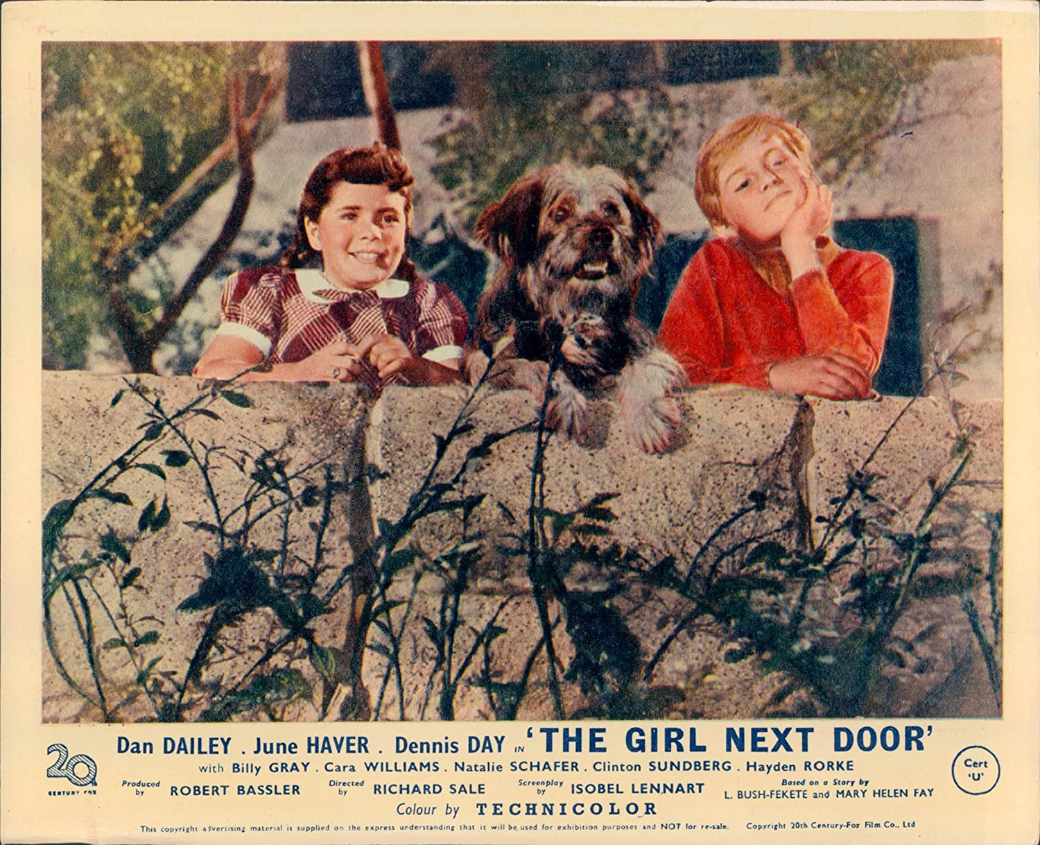 The Girl Next Door Dennis Day Cara Williams Lobby Card At Amazons