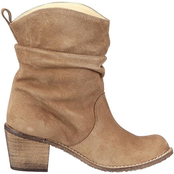 Jonnys Dolores 6500 - Botas de cuero para mujer con aspecto usado, color marrón (taupe), talla 32: Amazon.es: Zapatos y complementos