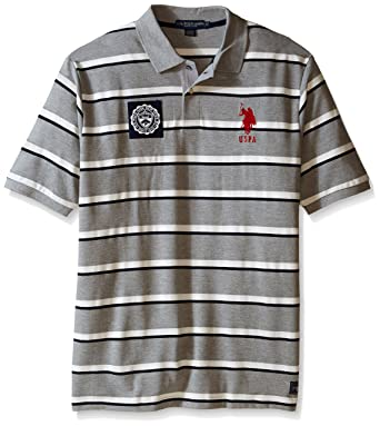 Amazon.com  U.S. Polo Assn. Men s Big-Tall Sporty Tri-Stripe Pique ... 6ba93bce5b1c