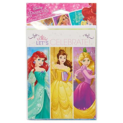American Greetings Disney Princess Invite & Thank You Combo Pack, 8-Count: Toys & Games