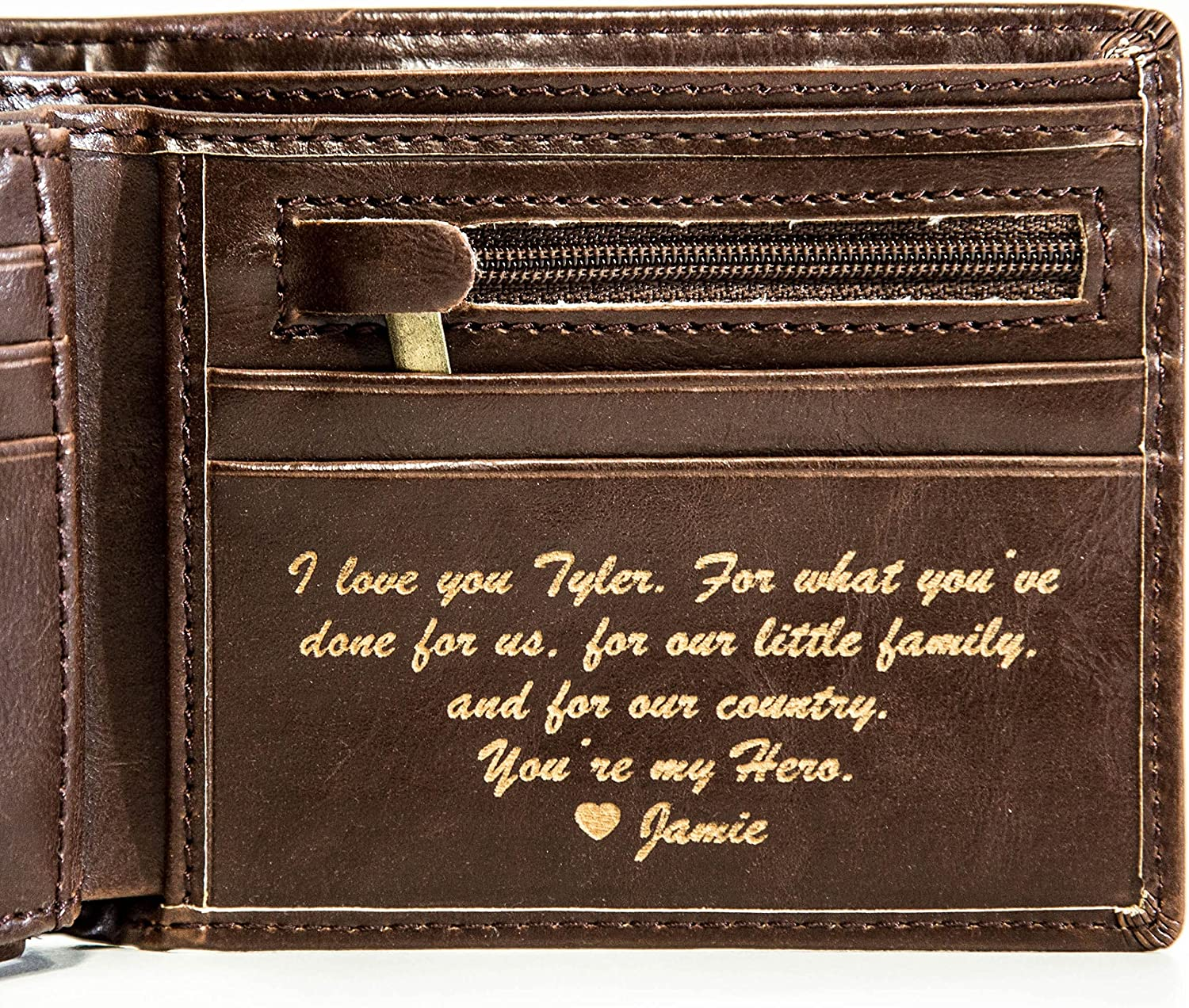 Personalized Mens Wallet Leather Wallet The Perfect Mens Gift Boyfriend Gift Father S Day Gift Or Groomsmen Gift Personalized Gifts For Men A Bifold Wallet With Id Sleeve And Coin Pocket