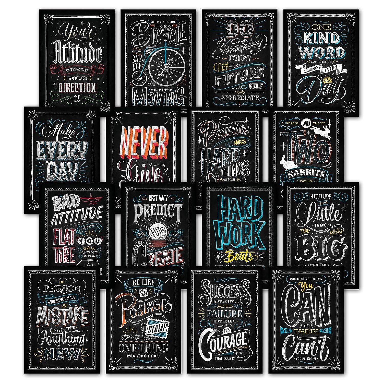 Amazon 16 Inspirational Classroom Posters Chalkboard