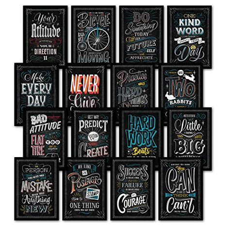 Chalkboard Quotes Fascinating Amazon 48 Inspirational Classroom Posters Chalkboard