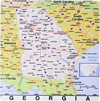 This is a picture of Printable Maps of Georgia intended for interstate
