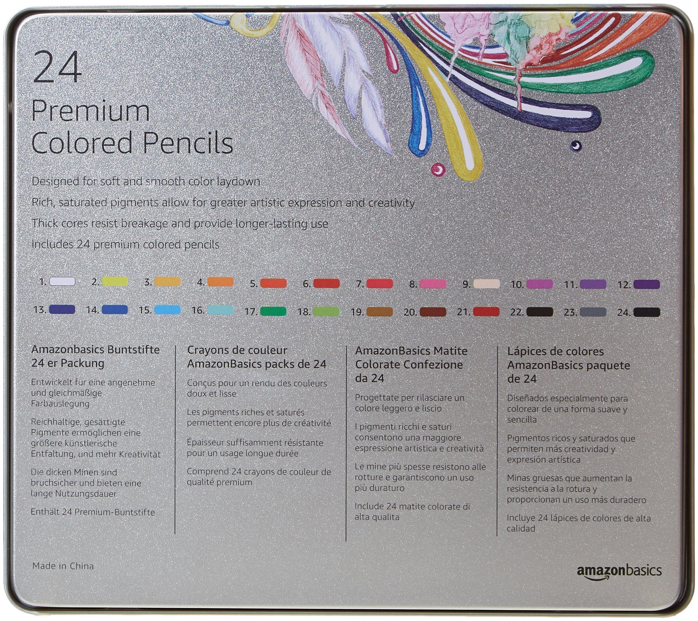 AmazonBasics Colored Pencils - 24-Count by AmazonBasics (Image #6)
