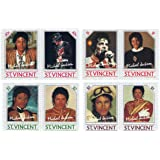 Michael Jackson Mint Never Hinged Stamps SG 940-947 - 8 Stamps issued St.Vincent / MNH / Later Printing of 1985 Issue