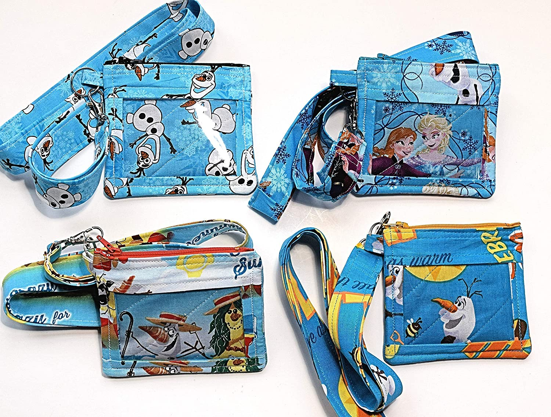 Donald Duck Coin Bag  Key Ring Bag Gift Card Bag Padded Bag Ear Buds Bag ID Bag Lanyard Bag
