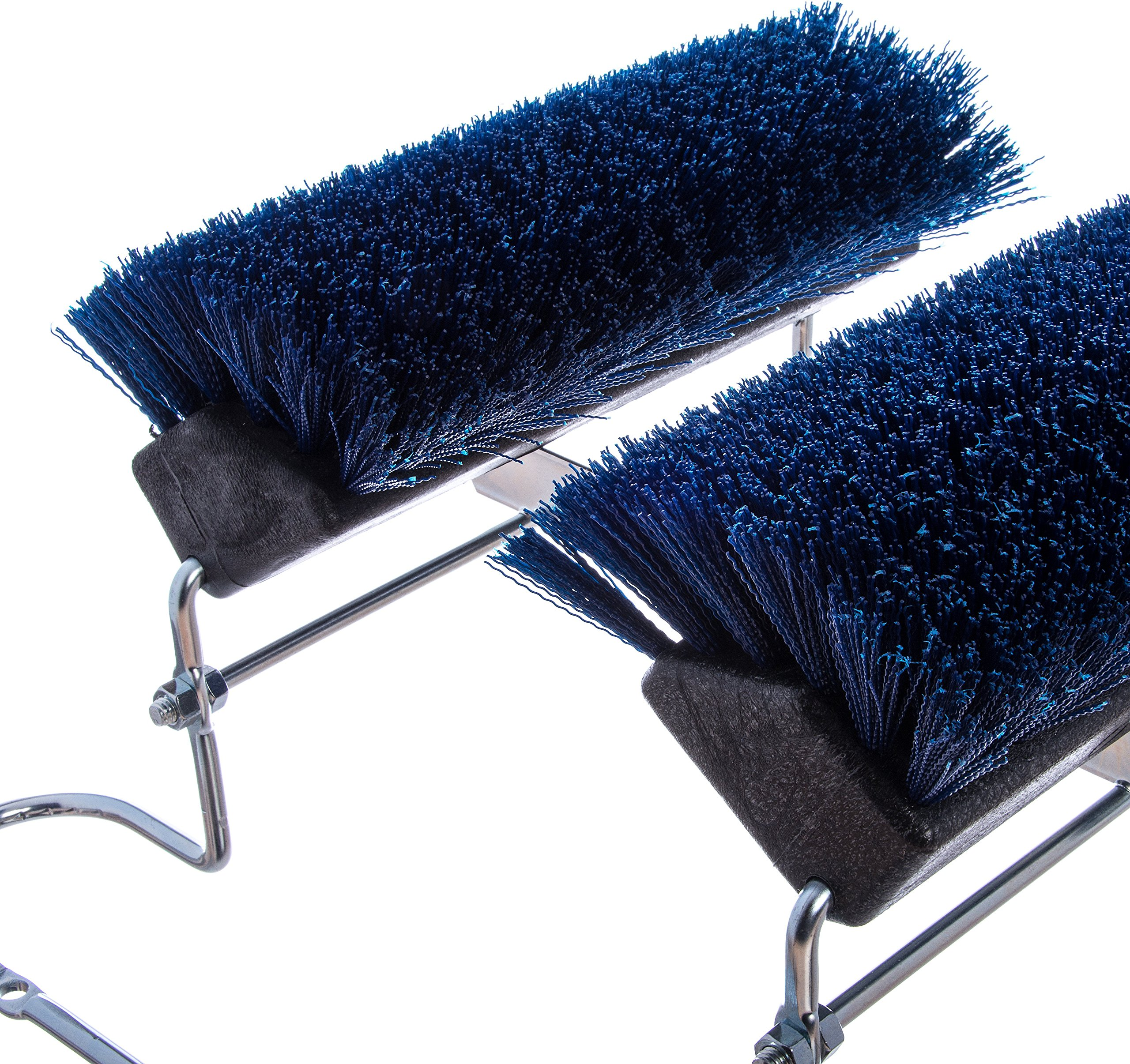 Carlisle 4042414 Commercial Boot 'N Shoe Brush Scraper with Chrome Plated Steel Frame, Blue by Carlisle (Image #3)