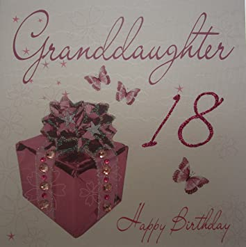 White Cotton Cards Granddaughter Handmade 18th Birthday Card Amazon
