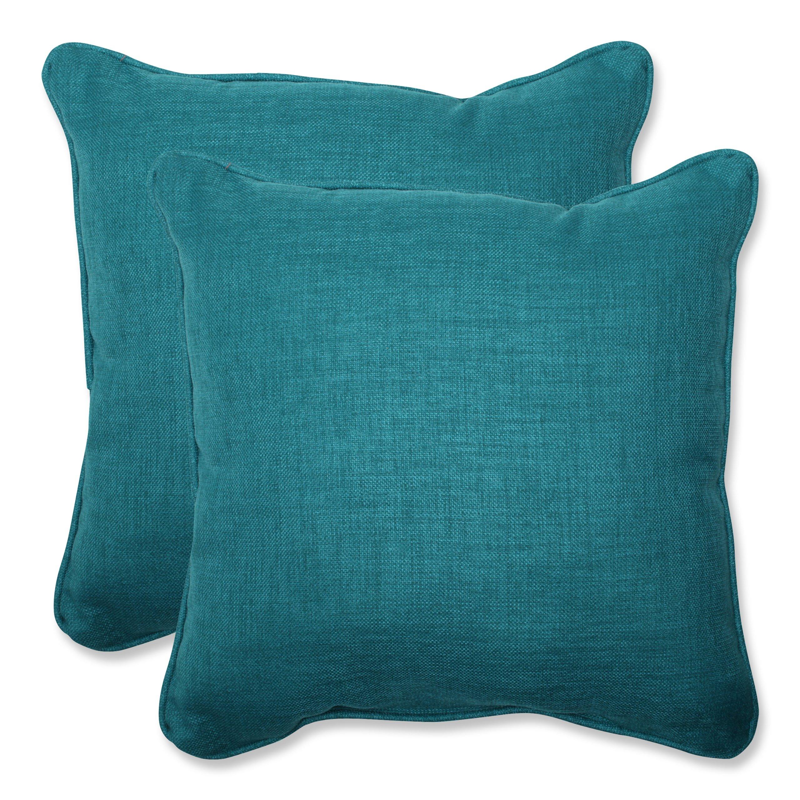 Pillow Perfect Outdoor Rave Teal Throw Pillow, Set