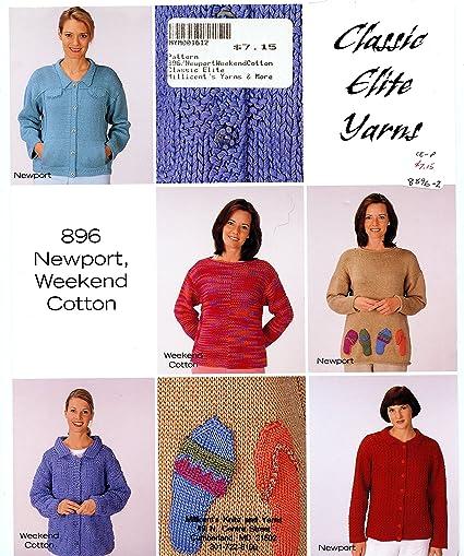 Amazon Classic Elite Yarns Knitting Pattern Leaflet 896