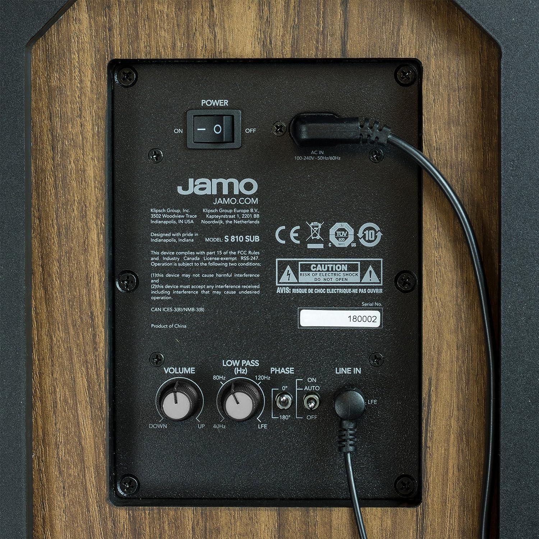 Jamo S 810 Sub B 75 W Schwarz Subwoofer 75 W 36 180 Hz 150 W 110 Db 25 4 Cm 25 4 Cm 10 Zoll Audio Hifi