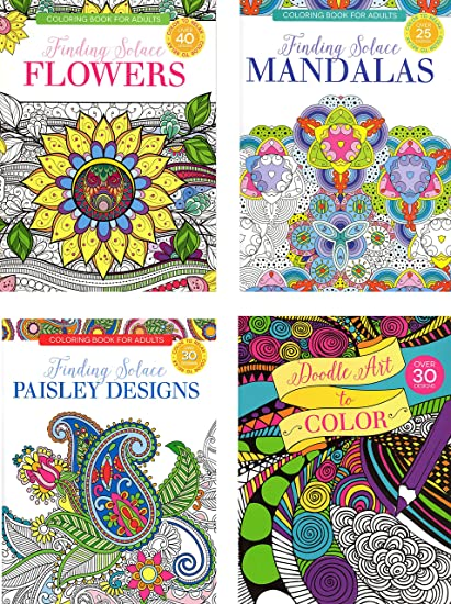 Amazon Com Four 4 Papercraft Adult Coloring Books Books Only