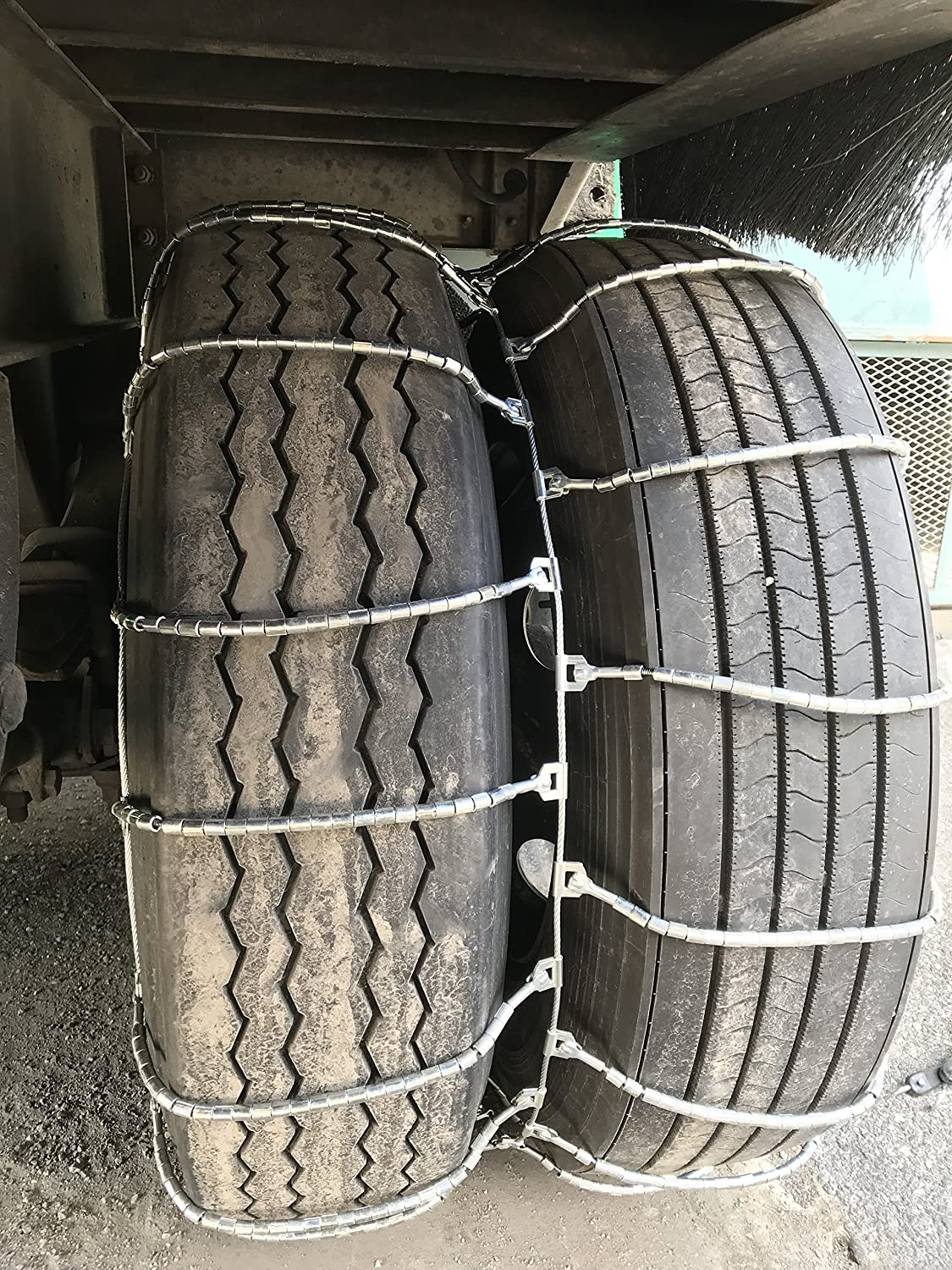 TireChain.com 4317 12R22.5 12 22.5 Dual Cable Tire Chains with Cam