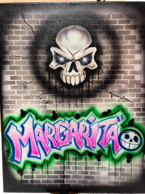 Amazon Skull Graffiti Airbrushed Shirt Personalized Shirt